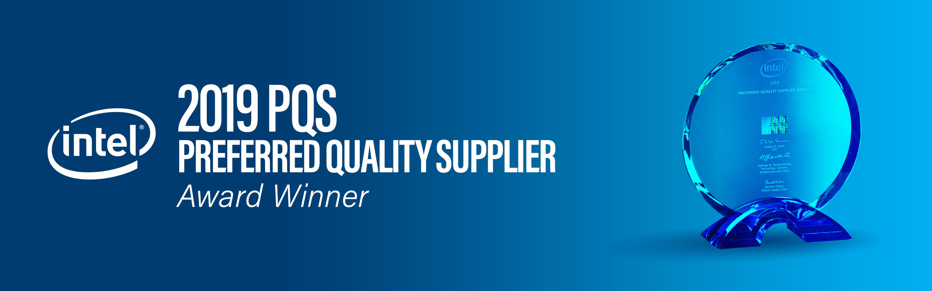 2019 PQS Intel Preferred Quality Supplier Award